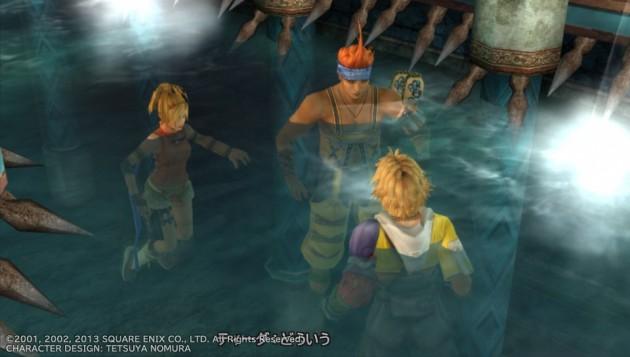 FF10 浄罪の水路のティーダ、ワッカ、リュックのスクリーンショット