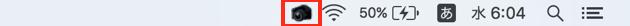 メニューバーに表示されるSimpleCapアイコン