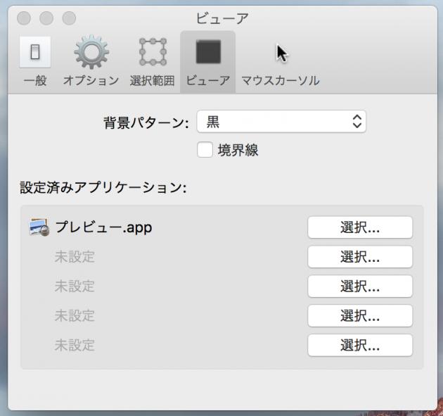 SimpeCapの環境設定「ビューア」