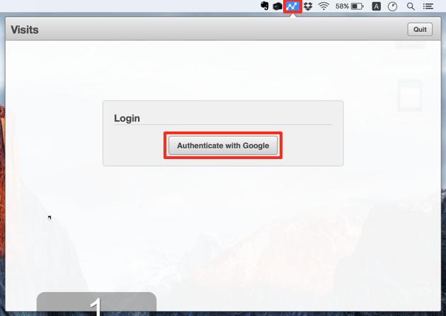 Macアプリ『Visits』の初回起動画面