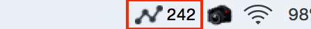 Macアプリ『Visits』のメニューバー設定