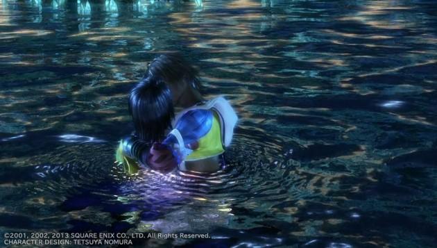 FF10、ティーダとユウナの水中キスシーン画像6