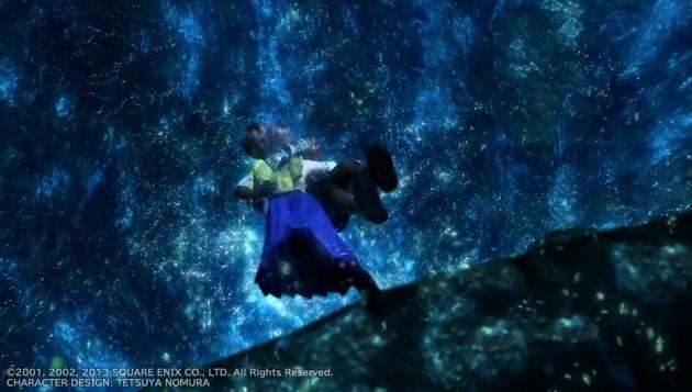 FF10、ティーダとユウナの水中キスシーン画像7