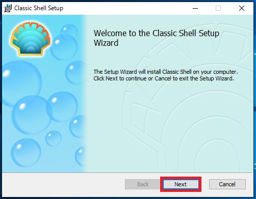 Classic Shellのインストール画面1