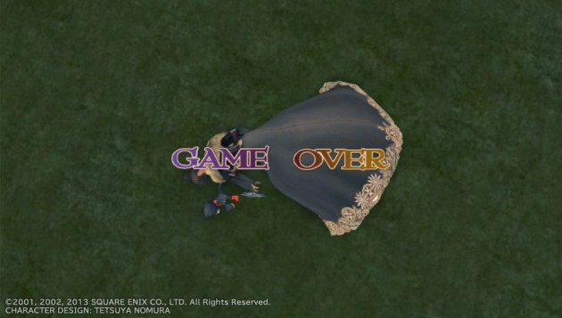 FF10、初のGAME OVER