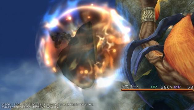 FF10、イフリートの地獄の火炎