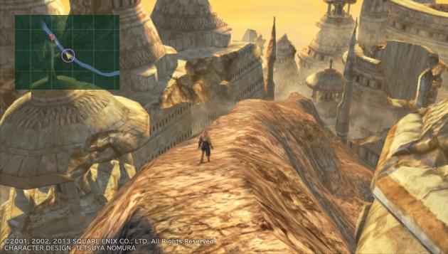 ガガゼト山を駆け降りるティーダ