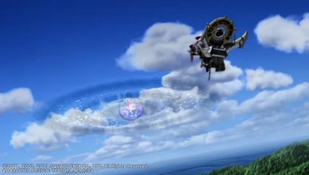 シンに近づく飛空艇
