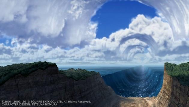 海と空に風穴が開いた瞬間