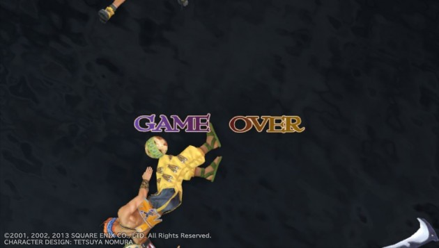 GAME OVER画面