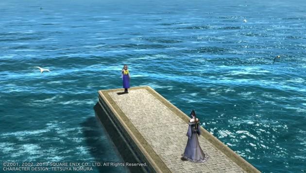 ルカの海で口笛を吹くユウナ