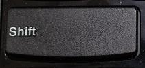 lenovo ThinkPad Edge E430のShiftキーの写真