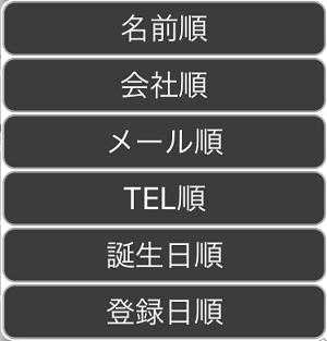 6種類の中から表示順を選択