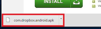 apkファイルのダウンロードに成功