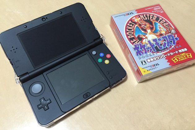 newニンテンドー3DSとVCダウンロードカード特別版ポケットモンスター赤