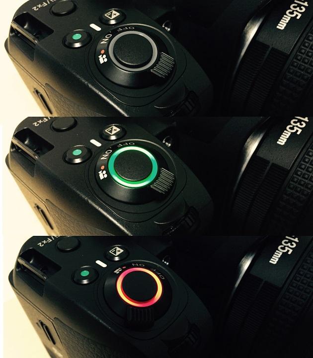 PENTAX K-70 電源スイッチの写真