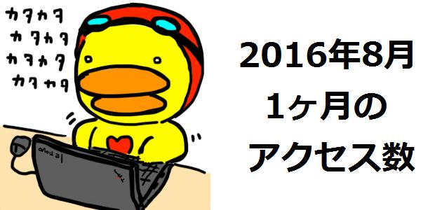 2016年8月アクセス数報告