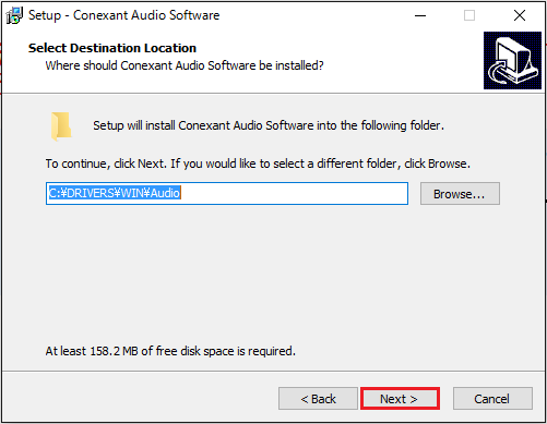 Conexant Audio Softwareのインストール③