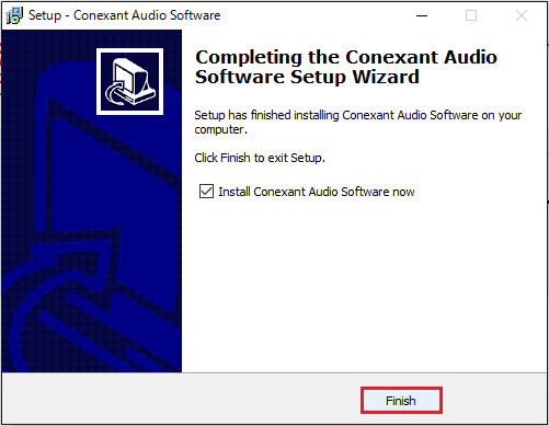 Conexant Audio Softwareのインストール⑤