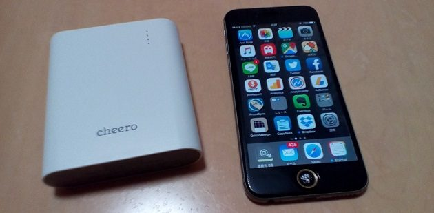 cheero Power Plus 3をiPhone6と並べてみる