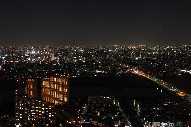 市川市アイ・リンクタウン展望デッキから見た夜景の写真