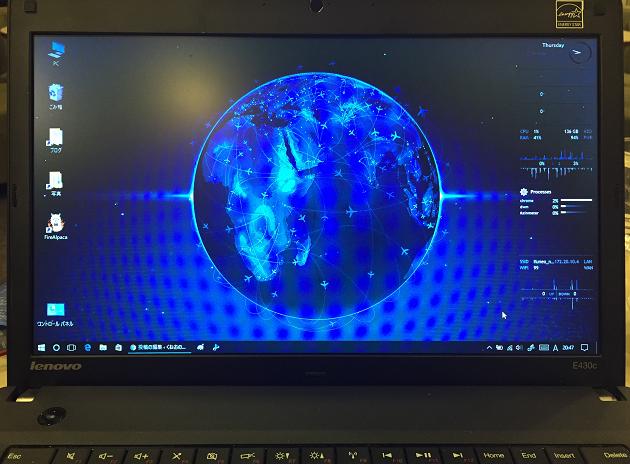 2017年くねおのThinkPad Edge 430cのデスクトップ画面