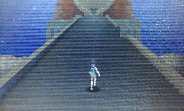 日輪の祭壇への長い階段