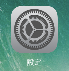 iPad Proの設定アプリ