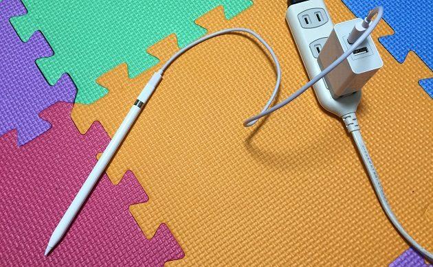 Apple Pencilを充電している時の写真