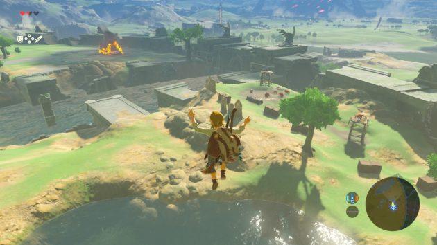 始まりの塔から飛び降りる
