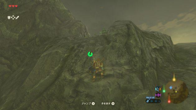 崖を上るリンク