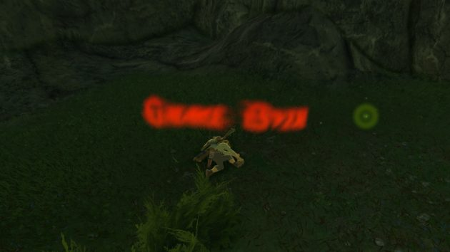 崖から転落死するリンク