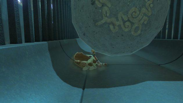 丸岩に押しつぶされて即死するリンク