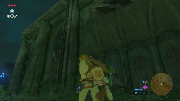 時の神殿の天井を目指すリンク