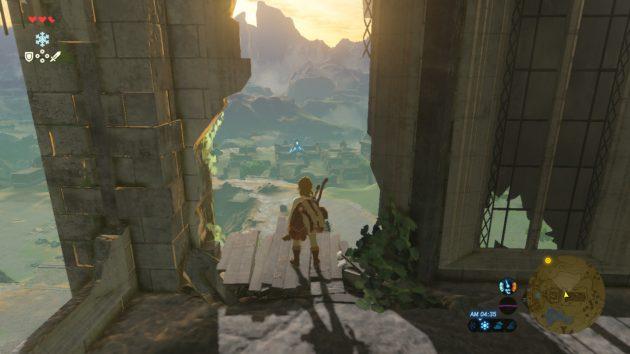 時の神殿からの始まりの台地の景色