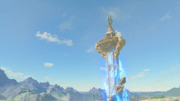 地表から塔が突き出す
