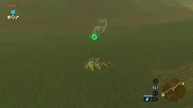 馬に蹴飛ばされる