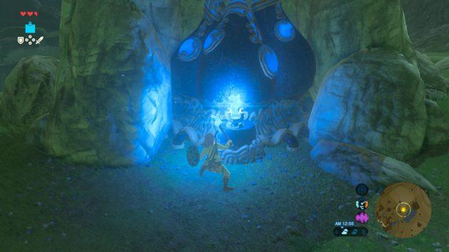 古代炉の青い炎