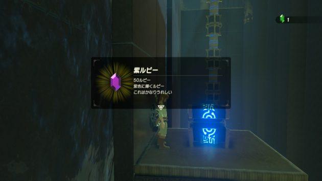 ハユ・ダマの祠の宝箱の中身は紫ルピー