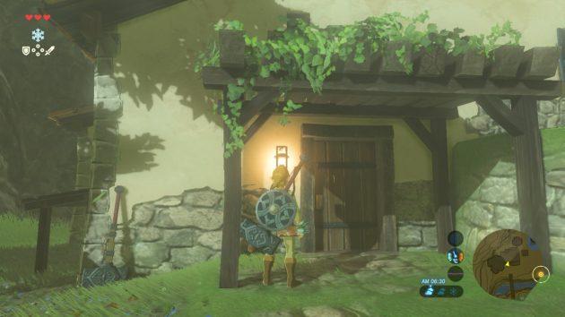 作ってもらったドア