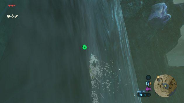 滝登りするリンク