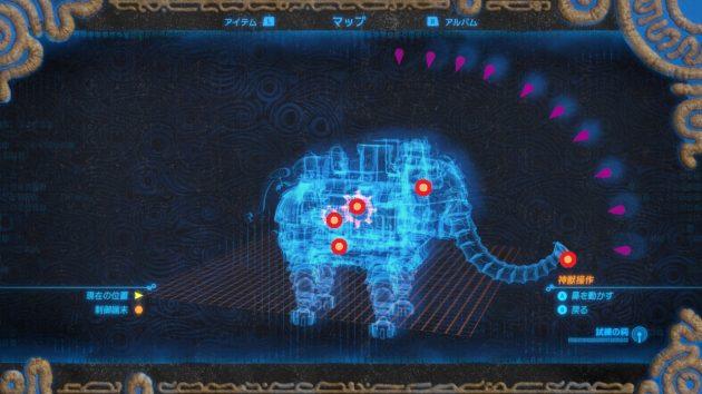 神獣ヴァルッタのマップ
