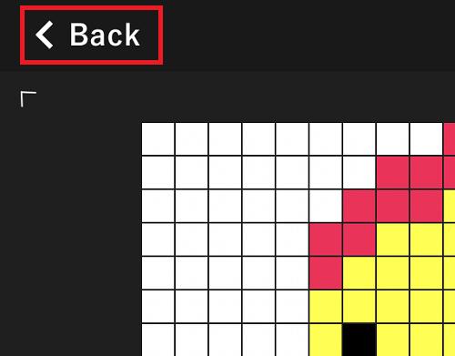 ドット絵エディタのBackボタン