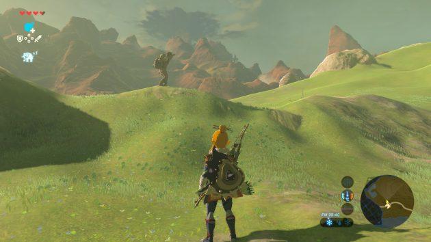 丘を見る青年