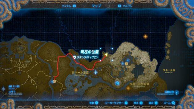 アッカレ地方手前のマップ