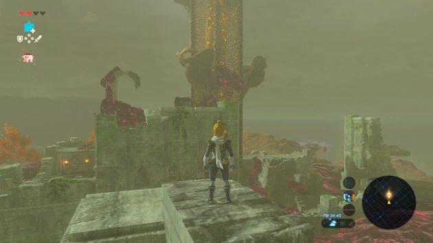 アッカレの塔を後ろ側から登る