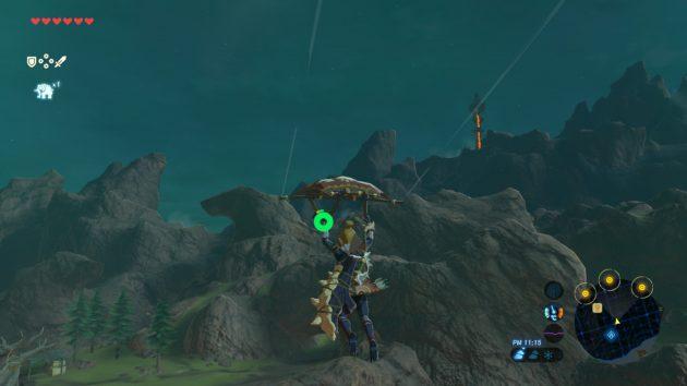 山麗の馬宿から塔を目指すリンク