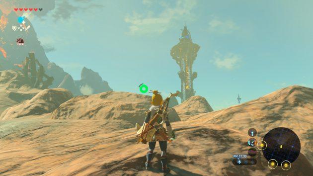 オルディンの塔のそばまで来るリンク