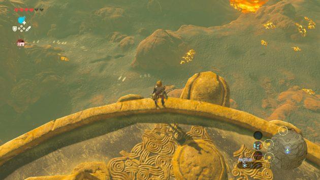 オルディンの塔から見下ろすリンク