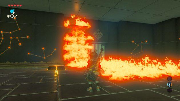 燃え上がる1つ目の部屋